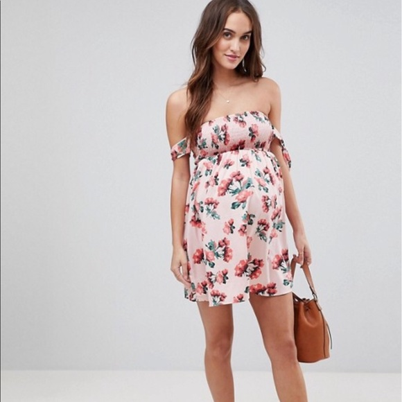 7419cb969a0 ASOS Maternity Exclusive Rose Shirred Sundress 2